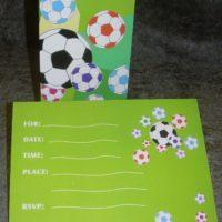 Invitationskort med fodbold