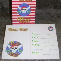 Invitationskort med pirat