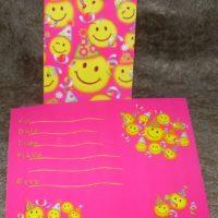 Invitationskort med smileys