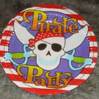 Pirat tallerken stor