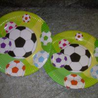 Fodbold lille tallerken