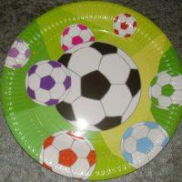 Fodbold stor tallerken