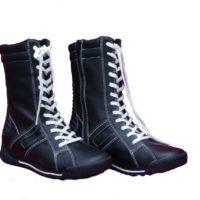 Læder pige støvle