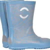 Mikk-line gummistøvle havblå, mønstret