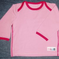 Bluse med lang ærme lyserød